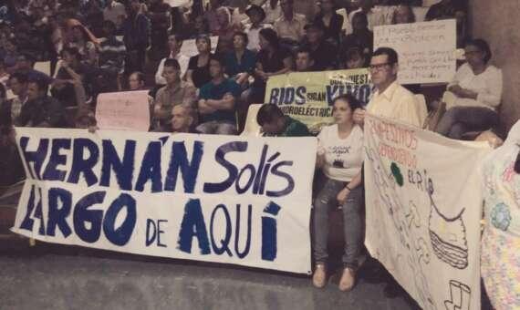 H. Solís también fue cuestionada por intentos de Proyectos Hidroeléctricos en ríos del Sur